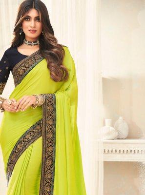 Green Border Silk Traditional Saree