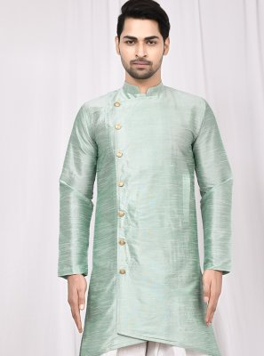 Green Buttons Mehndi Indo Western