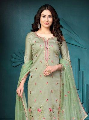 Green Ceremonial Churidar Salwar Suit