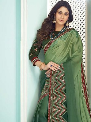 Green Ceremonial Contemporary Saree