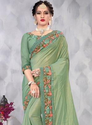 Green Ceremonial Designer Saree