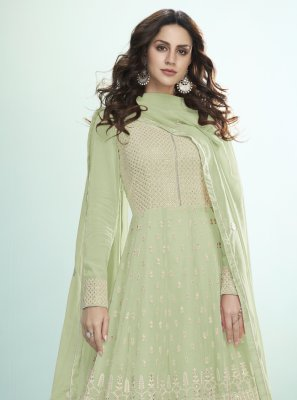 Green Ceremonial Desinger Anarkali Salwar Suit
