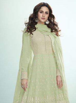 Green Ceremonial Desinger Anarkali Salwar Suit