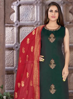 Green Ceremonial Readymade Suit