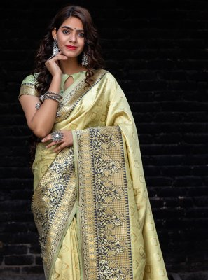 Green Ceremonial Traditional Designer Saree