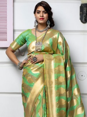 Green Ceremonial Traditional Saree