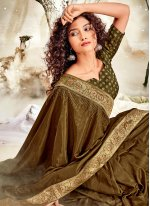 Green Chanderi Classic Saree