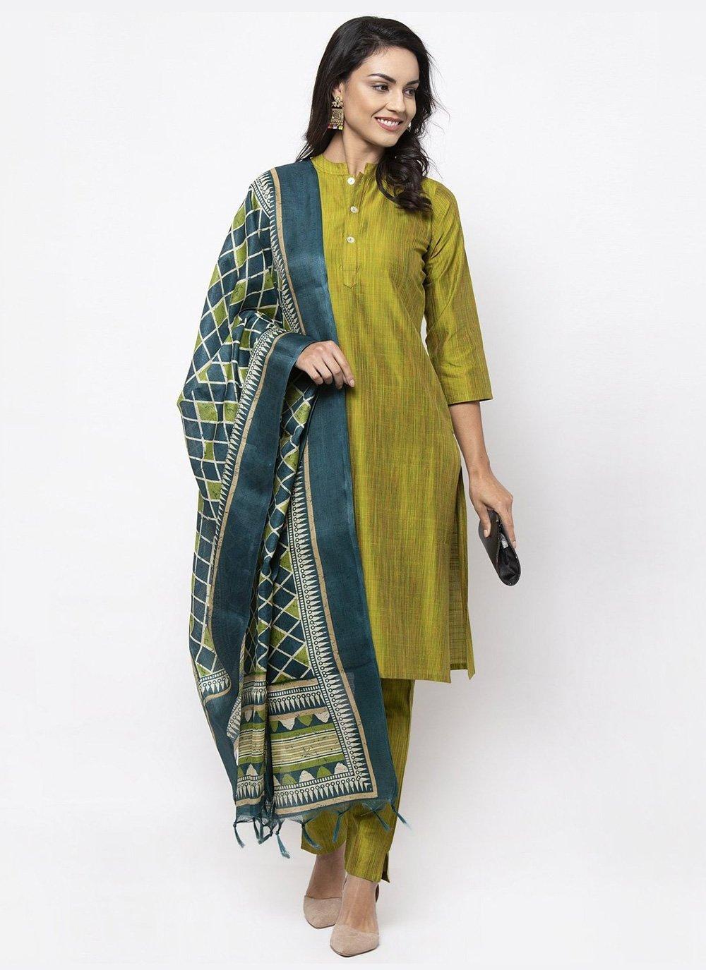 Green Color Bollywood Salwar Kameez