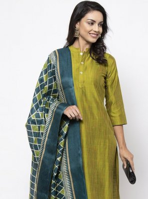 Green Color Bollywood Salwar Kameez