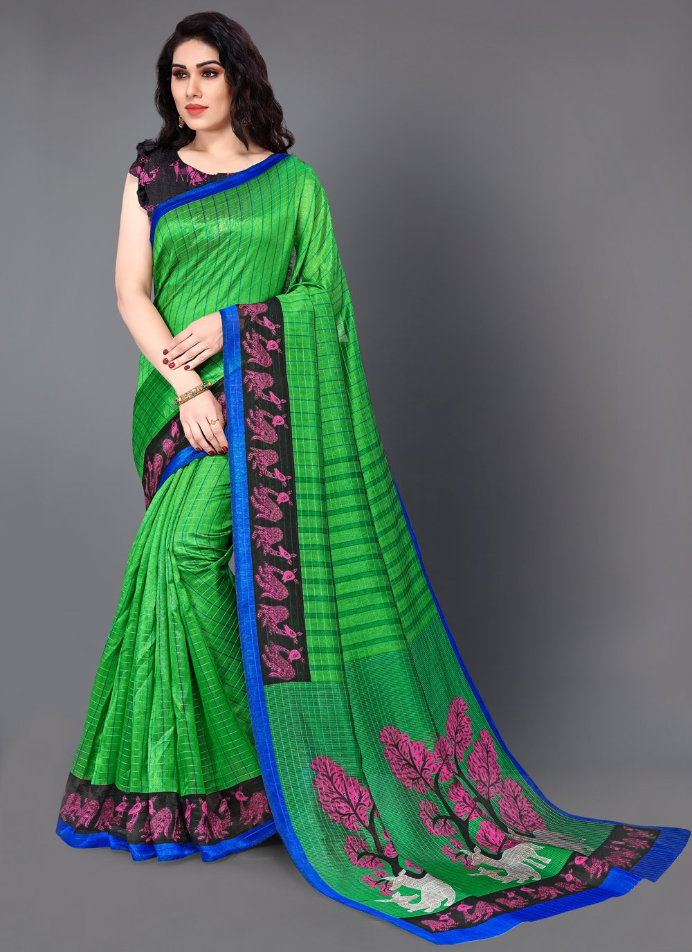 Green Color Bollywood Saree