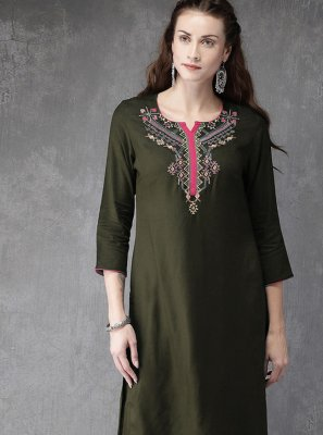 Green Color Designer Kurti