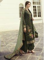 Green Color Designer Pakistani Salwar Suit