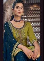 Green Color Designer Patiala Suit