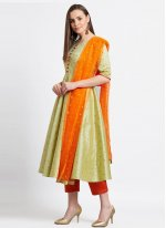 Green Color Readymade Suit
