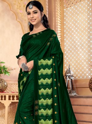 Green Color Traditional Saree