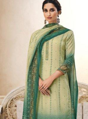 Green Color Trendy Salwar Suit