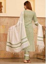 Green Cotton Festival Designer Suit
