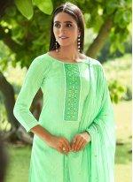 Green Designer Pakistani Suit