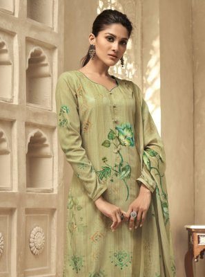 Green Embroidered Ceremonial Designer Palazzo Salwar Kameez