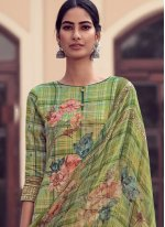 Green Embroidered Designer Palazzo Salwar Suit