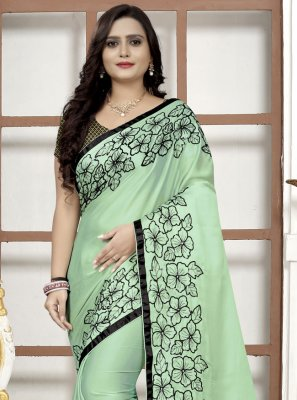 Green Embroidered Festival Classic Saree