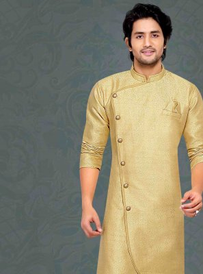 Green Embroidered Jacquard Kurta Pyjama