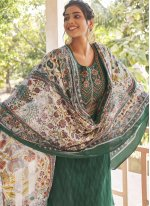 Green Embroidered Party Designer Pakistani Suit