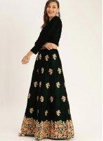 Green Embroidered Reception Trendy Lehenga Choli