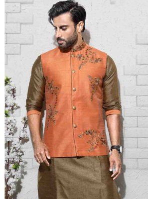 Green Embroidered Sangeet Sherwani