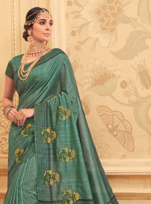 Green Engagement Art Silk Traditional Designer Saree
