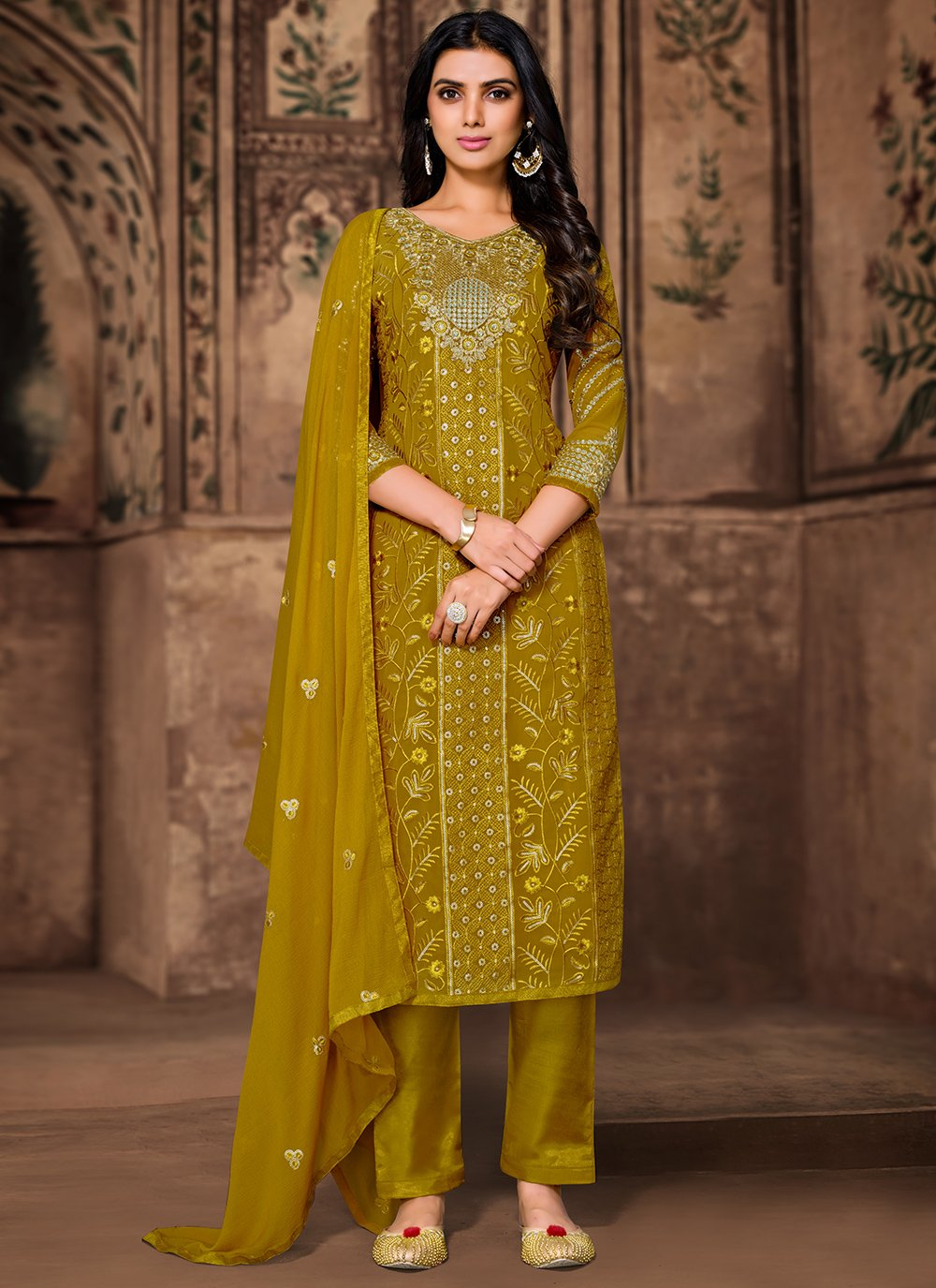 Green Engagement Pant Style Suit