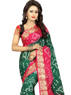 Green Fancy Art Silk Designer Traditional Saree