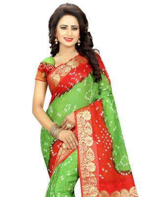 Green Fancy Art Silk Traditional Designer Saree