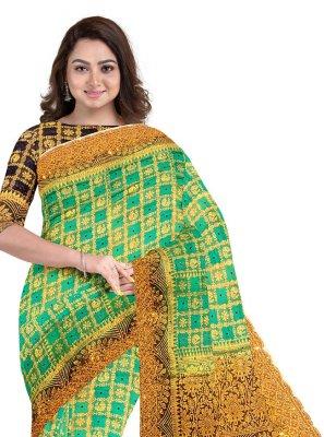 Green Fancy Fabric Fancy Classic Designer Saree