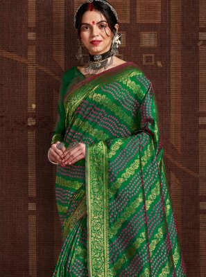Green Fancy Fabric Fancy Traditional Designer Saree
