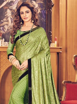 Green Fancy Fancy Fabric Classic Designer Saree