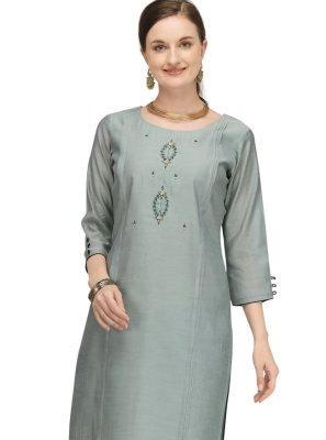 Green Fancy Festival Designer Kurti