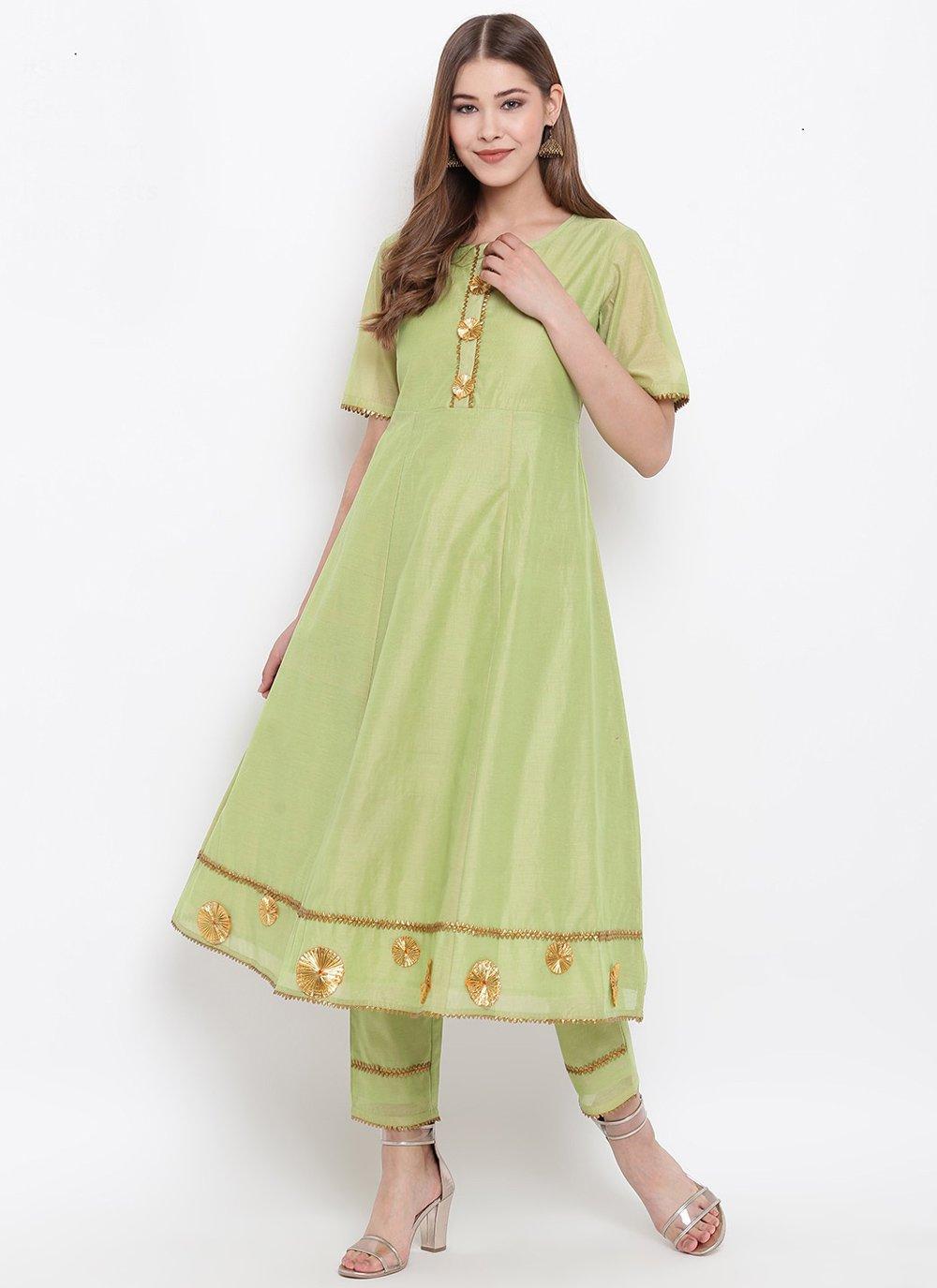 Green Fancy Party Wear Kurti