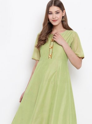 Green Fancy Party Wear Kurti