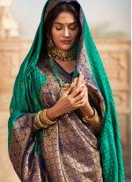 Green Fancy Silk Traditional Designer Saree