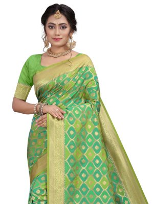 Green Fancy Traditional Designer Saree