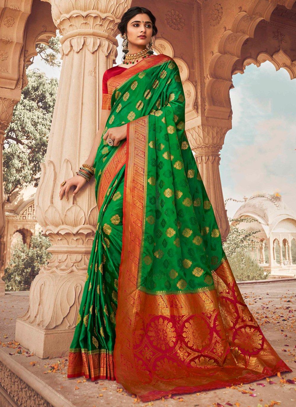 Green Fancy Traditional Designer Saree