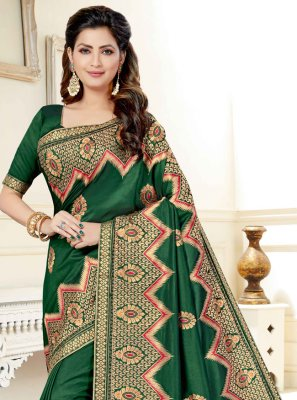 Green Festival Art Silk Traditional Saree