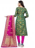 Green Festival Banarasi Silk Designer Traditional Saree