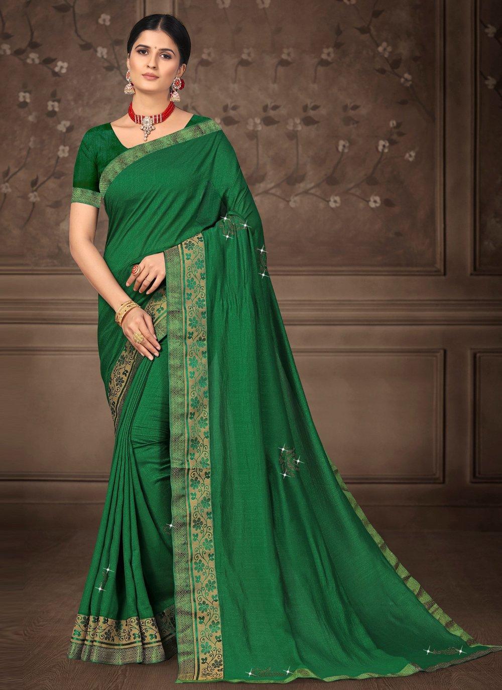 Green Festival Bollywood Saree