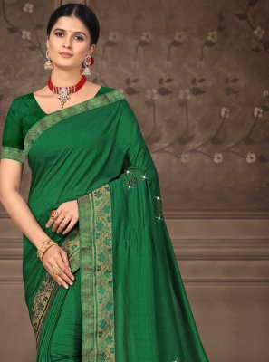 Green Festival Bollywood Saree