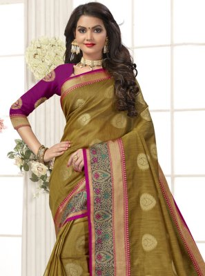 Green Festival Cotton Silk Designer Traditional Saree