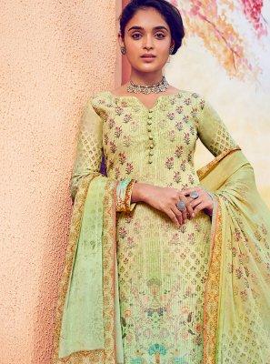 Green Festival Designer Palazzo Suit