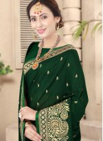 Green Festival Silk Traditional Saree
