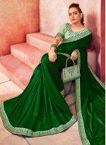 Green Festival Silk Trendy Saree